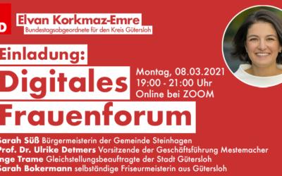 """Elvan Korkmaz-Emre lädt zum Weltfrauentag am 8. März zum """"Digitalen Frauenforum"""""""